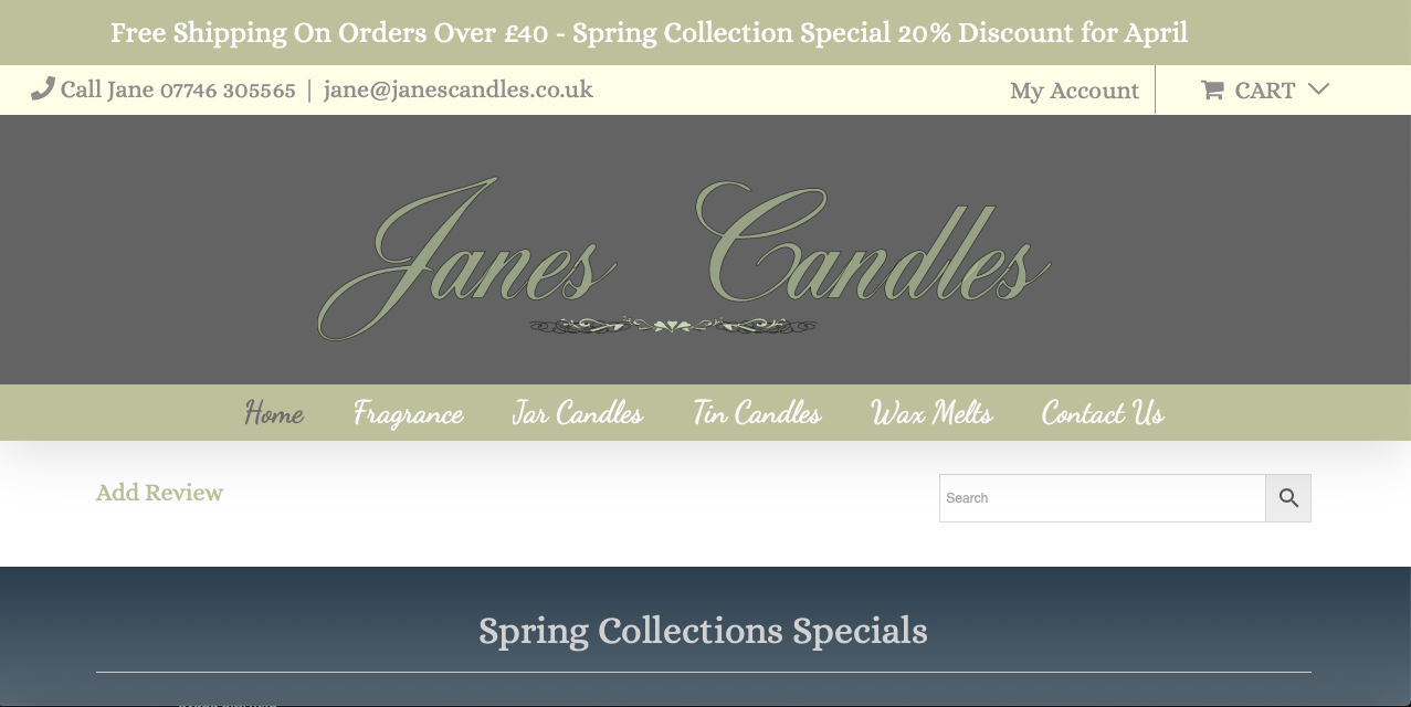 Janes Candles